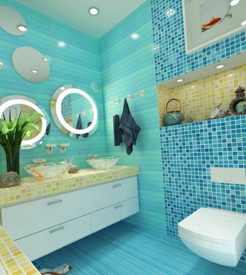 дизайн ванной в морском стиле фото