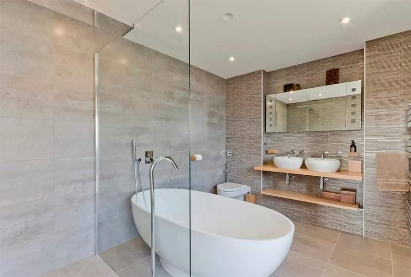 интерьер ванной в скандинавском стиле фото