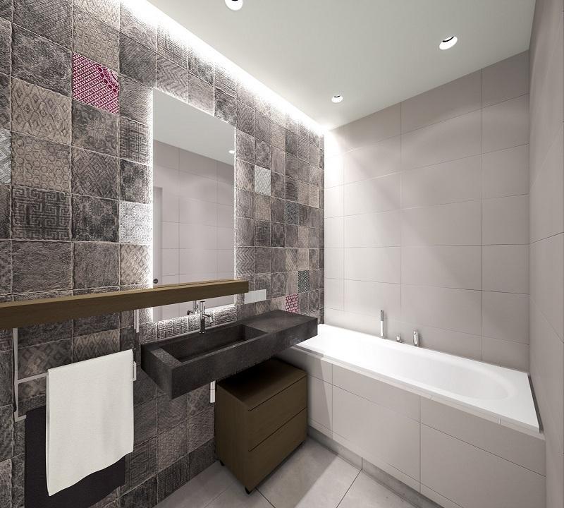 потолок в ванной в скандинавском стиле фото